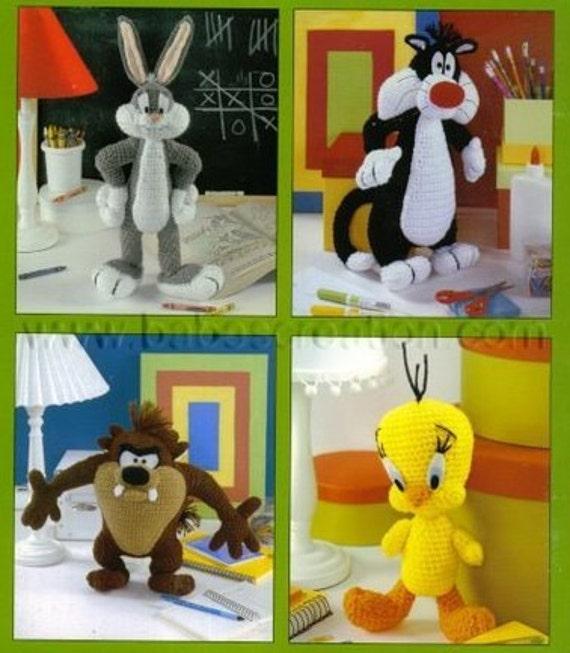 Amigurumi Bugs Bunny Yapilisi : Items similar to SALE! Bugs Bunny Sylvester Tazmanian ...