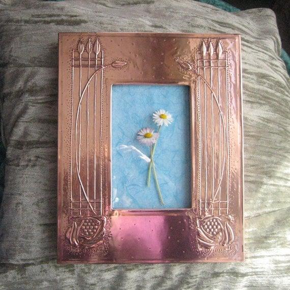 Handmade Copper Frame, Mackintosh Style