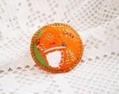 Felt brooch SLEEPING FOX Animal brooch Autumn accessory Back to school gift