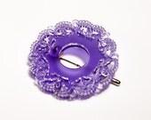 Frost Purple ACRYLIC LACE  BROOCH