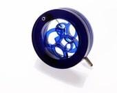 Transparent Dark Blue Acrylic CIRCLE LEAF  BROOCH