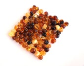 Loose Baltic amber round beads 100 psc. Multicolored
