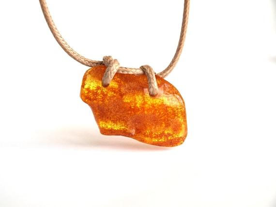 Unique Baltic amber Pendant.