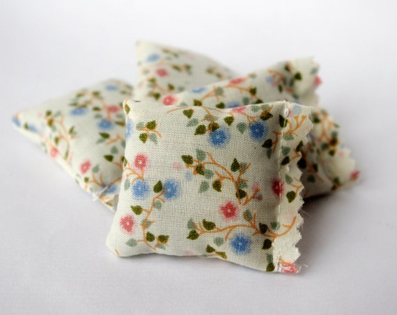 Floral French lavender sachets, vintage fabric