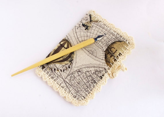 Notebook Hot Air Balloon Autumn travel journal Back to school recycled paper