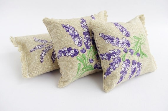 French lavender sachets Provence french fabric Farmhouse
