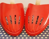 Vintage Shoe Trees / Stretchers / Formers - Bright Red - Fifties - retro, rockabilly, 50s, 60s, UK