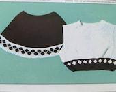 70s mini skirt and bolero top knitting pattern