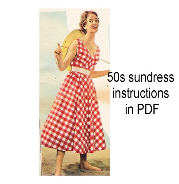 1950s vintage sundress instructions PDF downloaded format