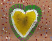 Found Wood Painting Sloppy Heart No. 5: Love is Me