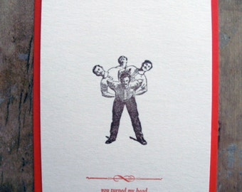 You turned my head - Letterpressed postcard