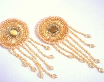 Beaded Applique,Pearls Applique for Fashion Accessories,Home decor,Handbags,Jewelry Design.