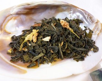 1 oz Elven Mist Tea - Jasmine Lychee Tea - loose leaf green tea