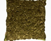 Nature Inside -Olive Green Cushion Pillow - 20x20 Inch