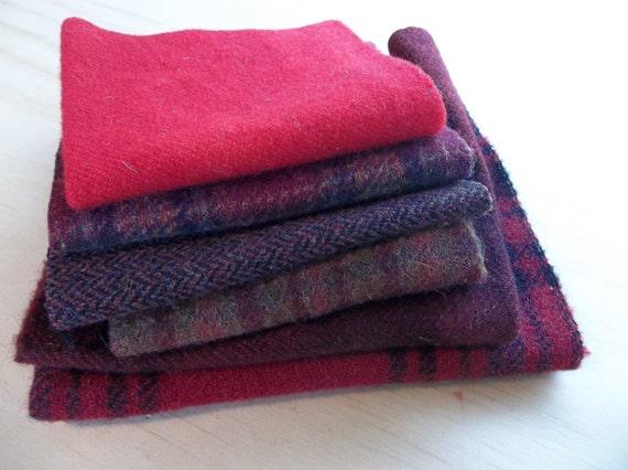 Wool Bundles - Prim Reds
