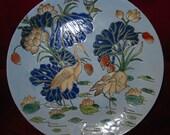 Hand-painted antique vintage porcelain decorative plate