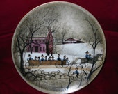 P. Buckley Moss Collectector's Valley Life Series Hayride Plate