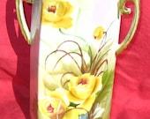 Nippon Yellow Rose Vase