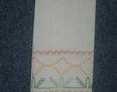 Huck towel - flower garden