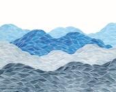 Blue Ridge Mountains II, Giclee Print of an Original Watercolor Painting