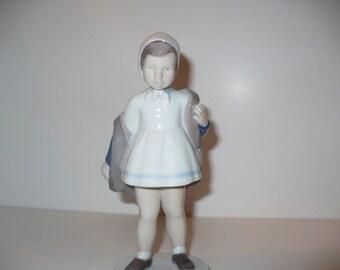 Hallo Again, Girl Standing, Bing & Grondahl Figurine (No 2387) (Retired)
