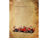 "Enzo Ferrari quote ""Aerodynamics are for people who can't build engines"" -  11.5x16 ,home decor"