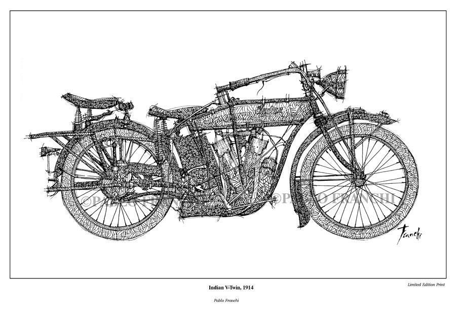 Почтовая открытка мотоцикл, февраля