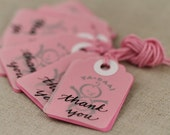 SALE Clearance - Baby Girl Shower Favor Tags - Baby Girl Favor Tags,  Set of 7 Baby Girl Thank You Tags, Hand lettered, Hand stamped Tags