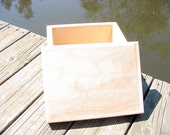 Wooden Unfinished Storage Box--Handcrafted
