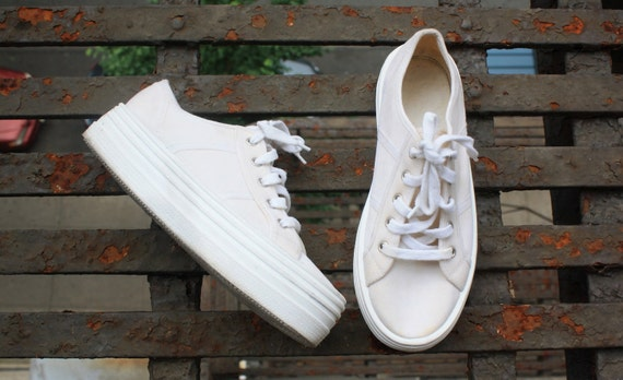 Platform Sneaker White Flatform Womens 6