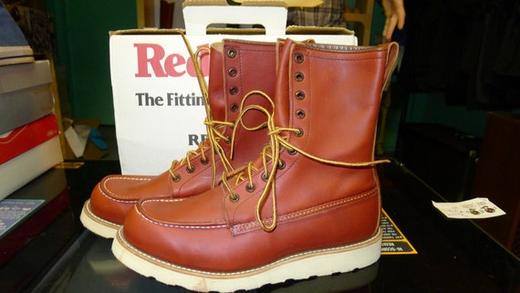 Vintage Unworn 877 Red Wing Irish Setter Boots 9.5 D 9 1/2