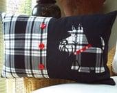 pillow. cushion wee bit of scotland Shephard Tartan with scottie dog 19 x 12