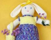 Bunny CROCHET PATTERN Bag Holder Blossom Bunny Housewares