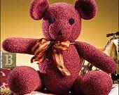 Teddy Bear Crochet PATTERN Cute FELTED