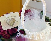 Easy CROCHET PATTERN Flower Girl Basket WEDDING Bridal