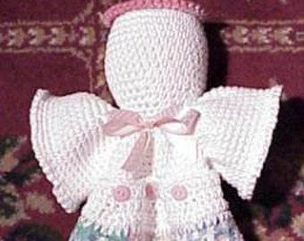 EASY CROCHET PATTERN Angel Towel Holder