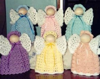 CROCHET PATTERN Angels Home Decor Pastel Angels