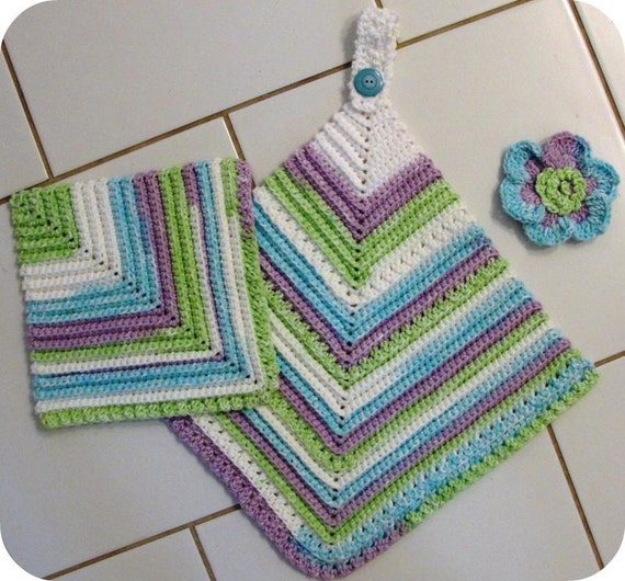Srubby For Kitchen: CROCHET PATTERN Dishcloth Scrubbie Towel Vintage Look Towel