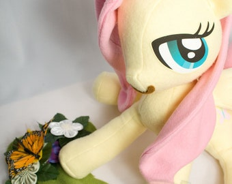 Fluttershy, Made-To-Order, Plush, MLP, FiM, Soft, Fleece, Cute