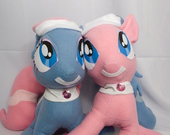 Spa Ponies, Aloe, Lotus, Made-To-Order, Plush, MLP, FiM, Soft, Fleece, Cute