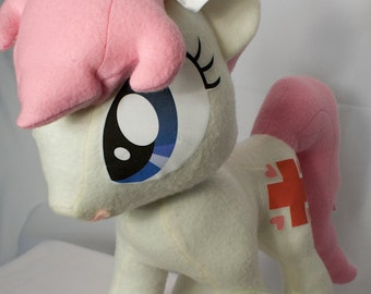 Nurse Redheart, Made-To-Order, Plush, MLP, FiM, Soft, Fleece, Cute