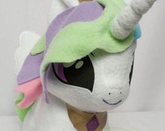 CHIBI Princess Celestia MLP Hand-Made Custom Craft Plush