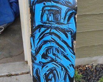 Glacial - Graffiti Skateboard Painting