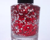 Rydell Forever - Red and White Glitter Nail Polish