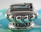 Ronson Vintage Table Cigar Cigarette Silver Plated Lighter- Crown Model