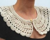 Crochet collar detachable - Ready to ship