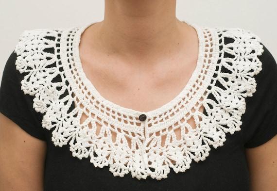 Crochet collar detachable spring summer - Ready to ship