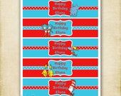 Dr. Seuss Collection  - Printable Water Bottle Labels - Party Package - DIY