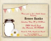 Country Sunflower - Shower or Birthday Invitation - Printable DIY 4x6 or 5x7