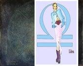 "Libra-fashion illustration-Greeting Card (5.5""x8"")"